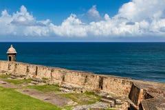 Protecting San Juan. San Felipe del Morro Fort in San Juan Puerto Rico royalty free stock images
