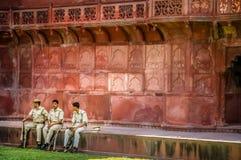 Protecting Taj Mahal Stock Photography