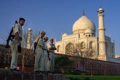 Protecting Taj Mahal Royalty Free Stock Photography