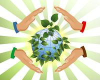 Protecting The Earth, Cdr Vector Stock Image