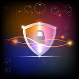 Protection on abstract background color , illustration Stock Photos