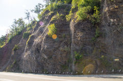 Protection against rockfall in Montenegro Royalty Free Stock Photography