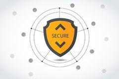 Protection background Technology and Internet security. Sign vector illustration