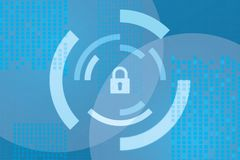 Protection background Technology and Internet security. Sign Royalty Free Stock Photo