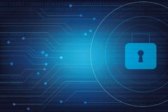 Protection background Technology and Internet security. Sign Stock Images
