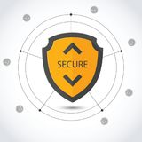 Protection background Technology and Internet security. Sign stock illustration