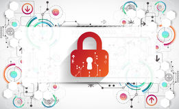 Protection background. Technology security, encode and decrypt, Stock Photo