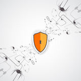Protection background. Technology security, encode and decrypt. Stock Photos