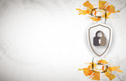 Protection background. Technology security, encode and decrypt. Royalty Free Stock Images