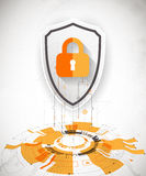 Protection background. Technology security, encode and decrypt. Royalty Free Stock Photography