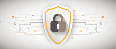 Protection background. Technology security, encode and decrypt. Royalty Free Stock Photo