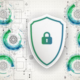 Protection background. Technology security, encode and decrypt. Stock Images