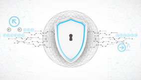 Protection background. Technology security, encode and decrypt. Stock Image