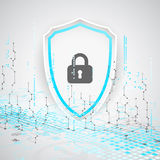 Protection background. Technology security, encode and decrypt. Royalty Free Stock Image