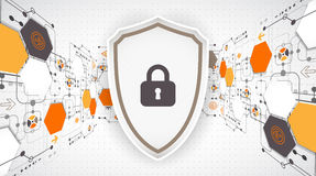 Protection background. Technology security, encode and decrypt. Stock Photography