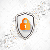 Protection background. Technology security, encode and decrypt. Royalty Free Stock Photos
