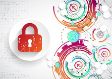 Protection background. Technology security, encode and decrypt, Royalty Free Stock Photo