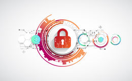 Protection background. Technology security, encode and decrypt, Stock Image