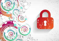 Protection background. Technology security, encode and decrypt, Royalty Free Stock Images