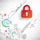 Protection background. Technology security, encode and decrypt, Royalty Free Stock Photos