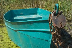 Protection boat  of an padlock Stock Photography