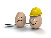 Protection by building site helmet Royalty Free Stock Image