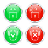 Protection buttons. Vector illustration. Royalty Free Stock Image