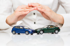 Protection of car. Business concept Royalty Free Stock Photos