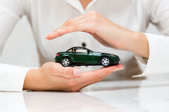 Protection of car. Business concept Royalty Free Stock Photo