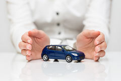 Protection of car. Business concept Stock Photos