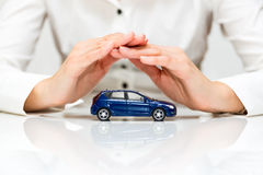 Protection of car. Business concept Stock Photography