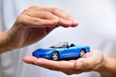 Protection of car. Business concept. car insurance. Stock Photos