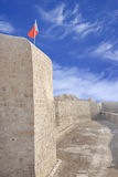Protection Channel dug all around Bahrain fort Royalty Free Stock Photo