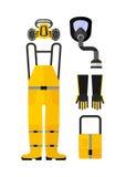 Protection chimique de vêtements de travail en général Image stock