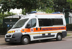 Protection Civile de Paris van in Paris Royalty Free Stock Photos