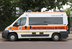 Protection Civile de Paris van in Paris Stock Photos