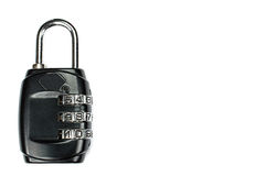 Protection computer padlock. White background with copy space. Stock Images
