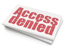 Protection concept: Access Denied on Blank Newspaper background Stock Image