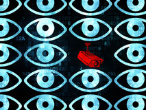 Protection concept: cctv camera icon on Digital Royalty Free Stock Photography