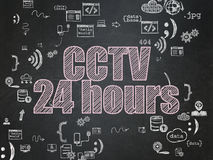 Protection concept: CCTV 24 hours on School Board Stock Photos