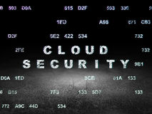 Protection concept: Cloud Security in grunge dark Royalty Free Stock Photo