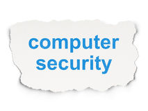 Protection concept: Computer Security on Paper background Stock Images