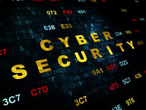 Protection concept: Cyber Security on Digital Stock Images