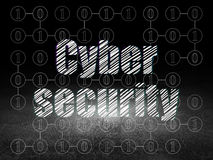 Protection concept: Cyber Security in grunge dark Stock Photo