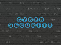 Protection concept: Cyber Security on wall Royalty Free Stock Photo