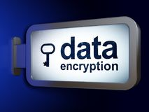 Protection concept: Data Encryption and Key on billboard background Royalty Free Stock Photography