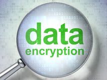 Protection concept: Data Encryption with optical Royalty Free Stock Image