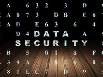 Protection concept: Data Security in grunge dark Royalty Free Stock Images