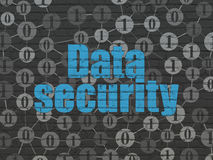 Protection concept: Data Security on wall Stock Images