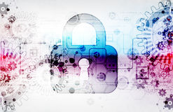Protection concept of digital and technological. Royalty Free Stock Photography